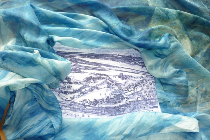 Silk and drypoint plate