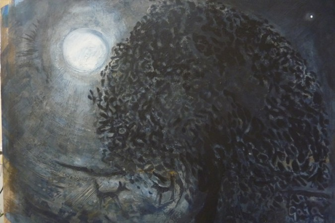 Meeting   (Moonscapes series) £450