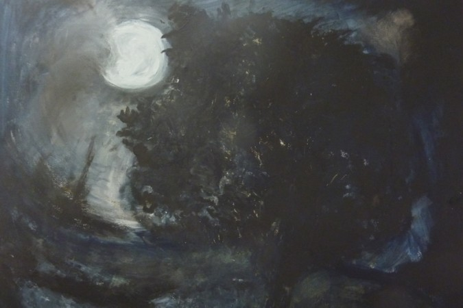 Wild night     (Moonscapes Series) £650